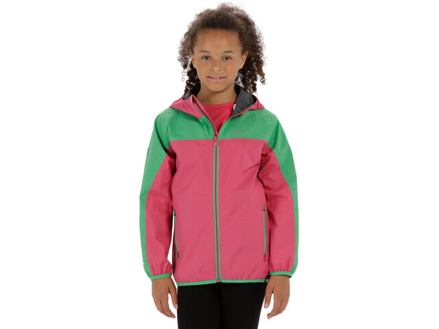 Regatta Deviate Jacket Kinder hot pink/island green reflective
